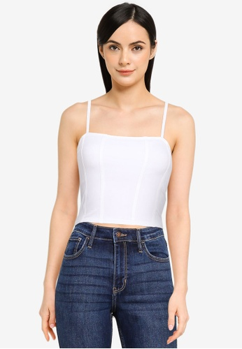 Hollister white Seamed Cami Top 0D147AABE60E59GS_1