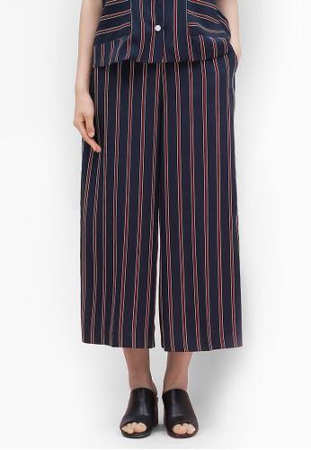 韓式風格條紋闊管九分褲, 服飾, 長esprit香港分店褲及內搭褲
