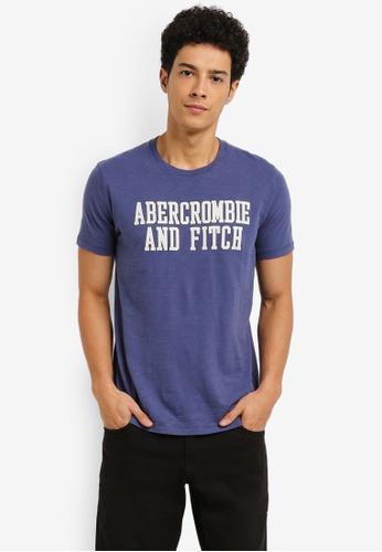 Abercrombie & Fitch blue Tech Legacy Applique T-Shirt 7B93EAAC5D2652GS_1