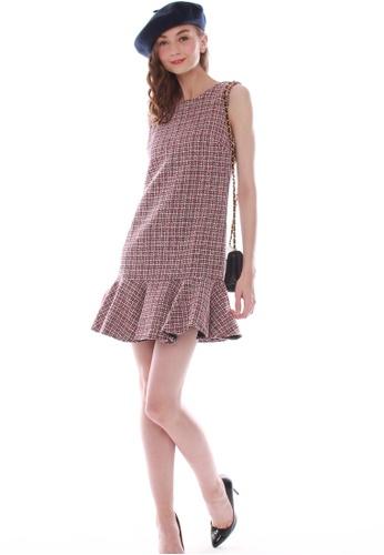 JOVET red Tweed Dress BAFEBAA4594FA3GS_1