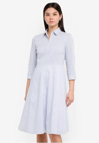 ESPRIT white Light Woven Midi Dress BCDB2AAC295366GS_1