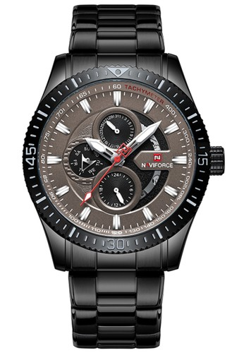 Naviforce brown Naviforce - Jam Tangan Pria - Black - Stainless Steel Bracelet - NF9140-E 21A73AC171873BGS_1