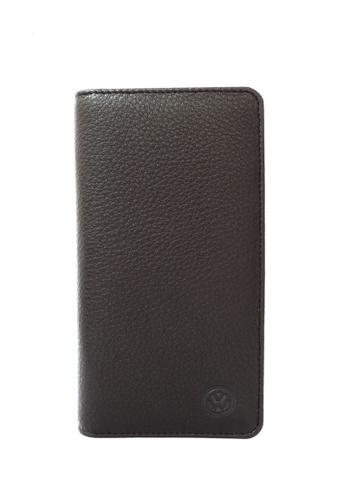Volkswagen brown Volkswagen Genuine Leather RFID Blocking Long Wallet 1772BAC77046FBGS_1