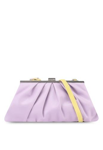 Keddo yellow and purple Ryo Sling Bag 0D90BAC8B87DD2GS_1