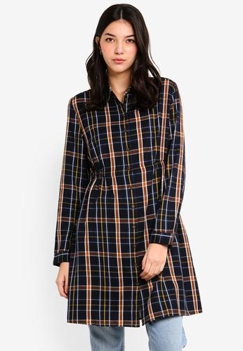 ESPRIT black and multi Light Woven Mini Dress 07D2FAA70C19C4GS_1