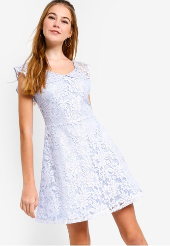 Something Borrowed blue Flutter Sleeves Lace Dress 9AE71AAD891D86GS_1