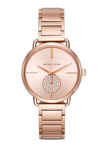 MICHAEL KORS gold Michael Kors Portia Rose Gold Watch MK3640 MI165AC0S0CXMY_1
