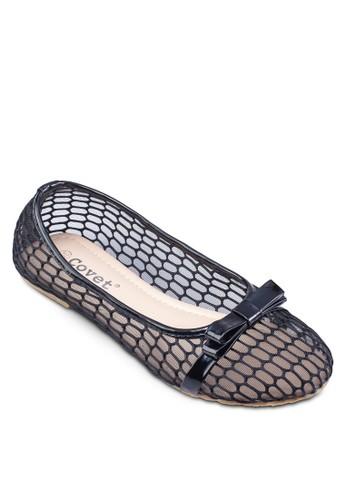 鏤zalora退貨空蝴蝶結平底鞋, 女鞋, 芭蕾平底鞋