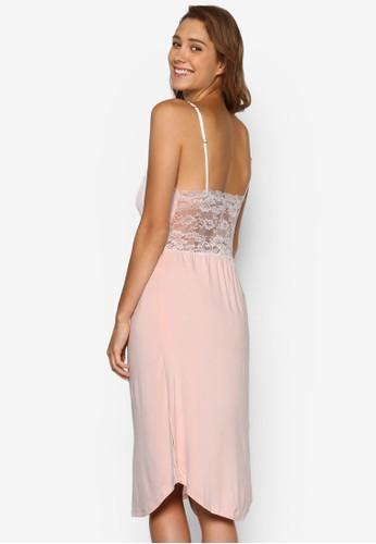 Petra 蕾絲邊飾低胸睡裙, 服飾,esprit台灣門市 睡衣, 睡裙和連身內衣