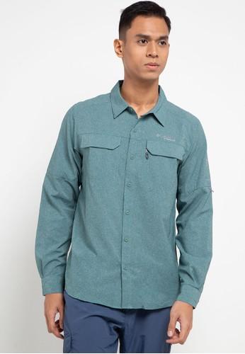 Columbia green Irico Men's Long Sleeve Shirt 6E2DBAA12A3536GS_1