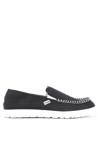 ACCEL black and grey and white Stryder Loafers AC958SH94KSBPH_1