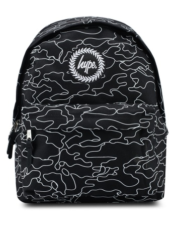 Just Hype black Future Camo Backpack C86F3ACE1E844BGS_1
