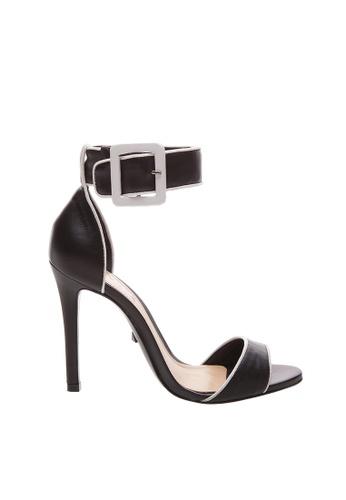 SCHUTZ 黑色 and 白色 SCHUTZ 露趾高跟涼鞋 - MAISY (黑白色) 1C603SH991BAB9GS_1
