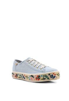 f13042bae 10% OFF Keds Triple Kick Rifle Paper Co. Embroidered Jute Sneakers RM  369.00 NOW RM 331.90 Sizes 5 6 7.5 8.5 9