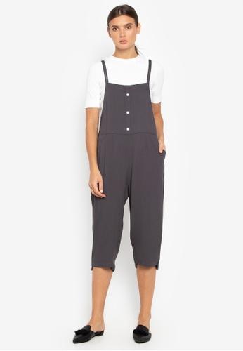 Susto The Label grey Veruna Button Jumpsuit 86579AAF547917GS_1