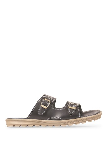 JAVA SEVEN black JAVA SEVEN Shoes Gusali 2 Black Men's Sandal & Flip Flops Genuine Leather JA154SH45ILIID_1
