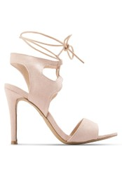 Something Borrowed pink Cut Out Laced Sandal Heels BBB31SHCC34662GS_1