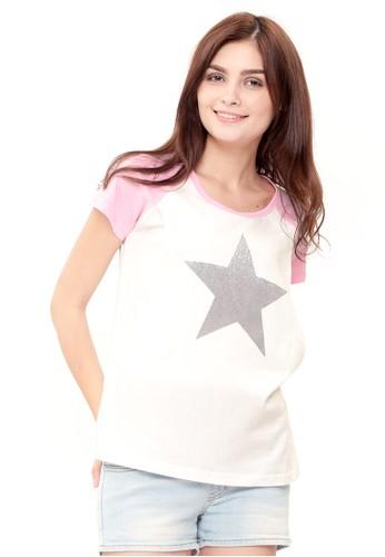 MOOIMOM pink MOOIMOM Star Nursing T-shirt Couple Set Baju Hamil Menyusui Couple Ibu Anak - Pink 23D23AAD5D899EGS_1