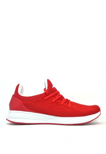 ACCEL white and red RN Ryden Runnong Shoes A554BSH8593B79GS_1