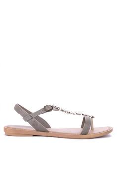 74679167e Grendha grey Linda Sand Fem Sandals 61B88SHA108E3DGS 1