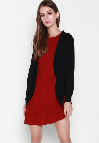 JOVET black Basic Long Sleeved Cardigan 14F95AAFCCB2FAGS_1