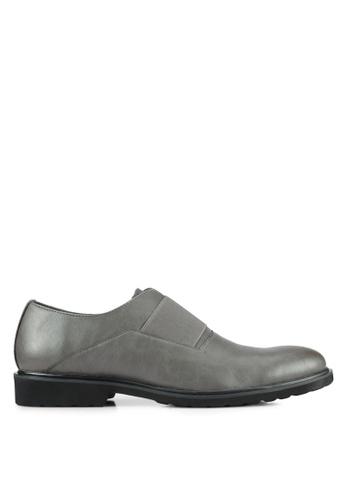 ZALORA grey Contemporary Faux Leather Brogues B76F3AA955F116GS_1