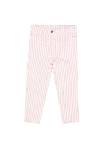 LC Waikiki pink Baby Girl's Striped Trousers D8A63KAE6CCF2DGS_1