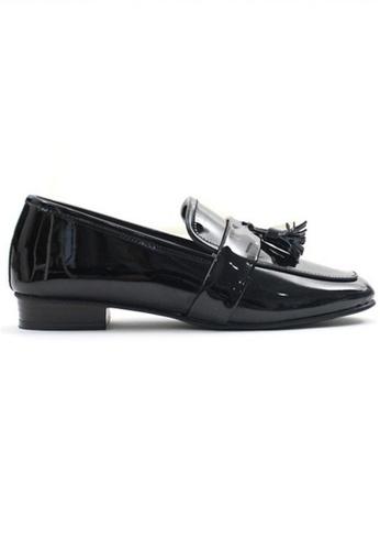 Crystal Korea Fashion black South Korea Wild Tassel Comfortable Flat Shoes FEFECSH7CF4453GS_1