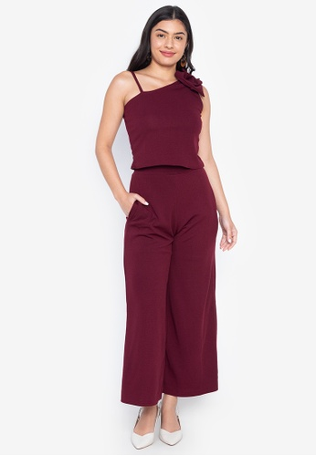 2094d8901d2ca7 Deity purple One Shoulder Top   High Waist Square Pants 077AAAABBACFB8GS 1