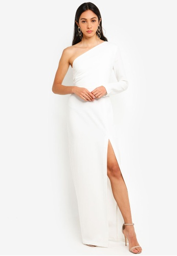 d490f6132b8b Shop Vesper Remy Maxi Dress With One Sleeve Online on ZALORA Philippines