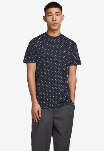 Jack & Jones navy All Over Printed T-Shirt 4632EAA0C9182CGS_1