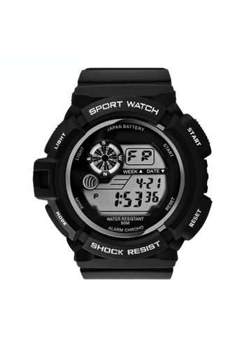 Greatnes Trading Corp black Military LED Water Resistant Sports Wristwatch SKM-0939 GR861AC62IOJPH_1