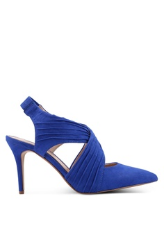 09cdc2c3dadb Dorothy Perkins blue Blue Microfibre Espresso Court Heels 0E89FSH56DBB16GS 1
