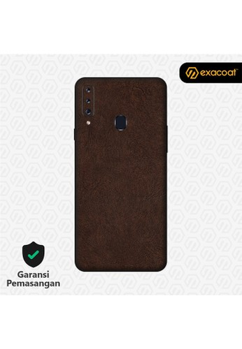 Exacoat Galaxy A20s 3M Skins Leather Series - Leather Brown 3A26AESD425C4AGS_1