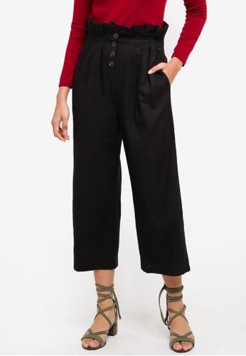 TOPSHOP black Petite Kendall Crop Trousers 0991DAADD961FDGS_1