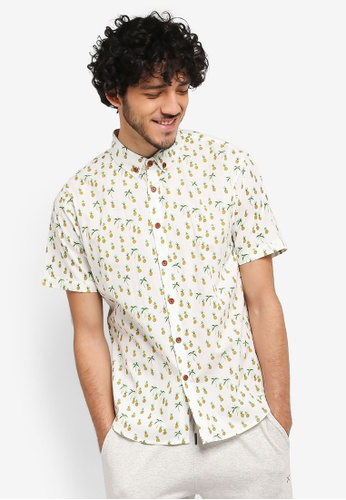 JAXON white Aloha Short Sleeves Shirt 9A947AADAC0368GS_1