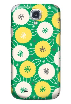 Cotton Flower All Glossy Hard Case for Samsung Galaxy S4