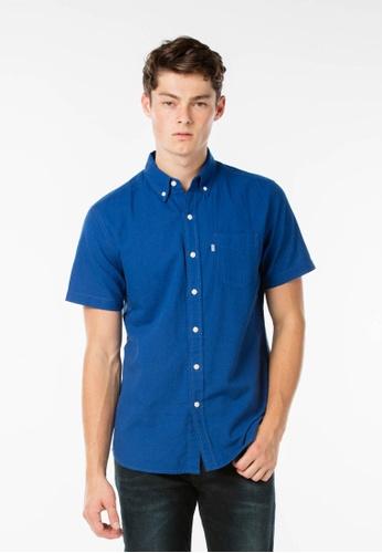 Levi's blue Short Sleeve Classic One Pocket Shirt LE843AA18JJDSG_1