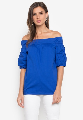 CANVAS blue Priscilla Top Off Shoulder 6DF44AAE3ABBFEGS_1