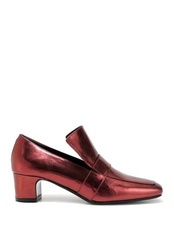 RABEANCO red RABEANCO NOONA CHUNKY Heel Loafers - Burgundy 9D532SHC49A442GS_1