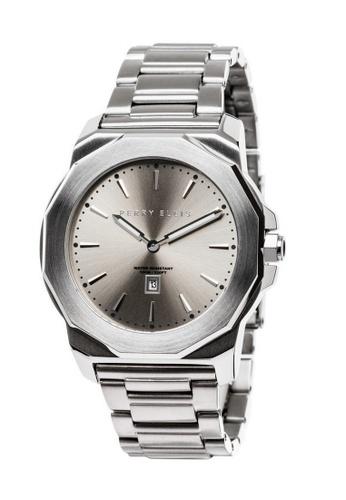 PERRY ELLIS silver Perry Ellis Decagon Unisex 42mm Quartz Stainless Steel Watch 08003-02 3D773AC255CD94GS_1