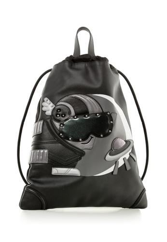 Braun Buffel black Bully-X Drawstring Backpack 89963AC31EB9E2GS_1