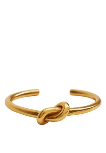 Mango gold Knot Detail Bracelet F6331AC2FDAEC7GS_1