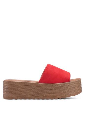 nose red High Heel Wedge Slides 75F45SHB44EB9EGS_1