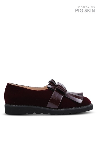 BETSY red Fringe Loafers BE207SH0REQQMY_1