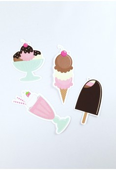 Ice Cream Treats Die Cut Gift Tags