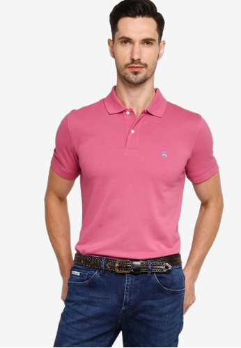 Brooks Brothers pink Knit Polo Shirt 4B907AA4160FA4GS_1