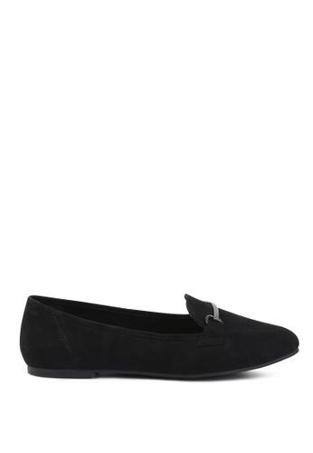London Rag 黑色 黑色金属扣乐福鞋 7C9C5SH7D46DDCGS_1