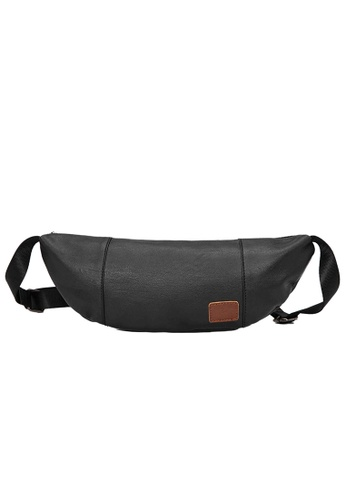 Lara black Plain Zipper Cross Body Bag - Black B080EACEBCB30EGS_1