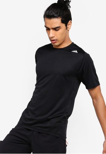 ADIDAS black freelift_sport fitted three stripes tee 96DC2AA72E085AGS_1